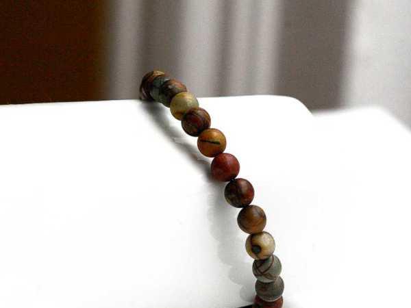 Earthy Jasper Beaded Cuff Bracelet