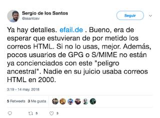 Sergio de los santos twitter PGP/GPG imagen
