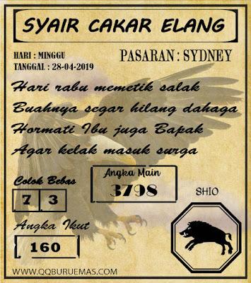 Syair SYDNEY,28-04-2019