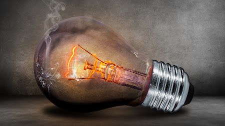 Photoshop Illustration with a Lighting Bulb Public Domain