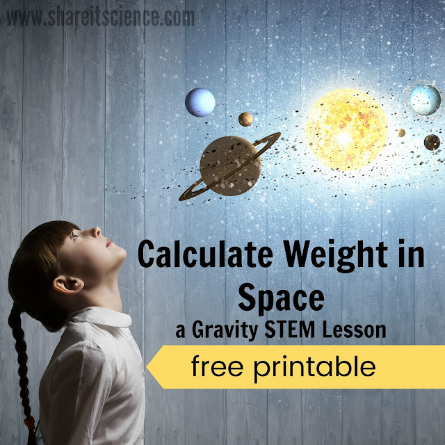 Gravity Lesson Weight in Space Printable