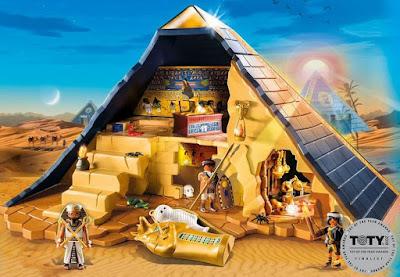 Игровой набор Пирамида фараона для изучения истории в форме игры