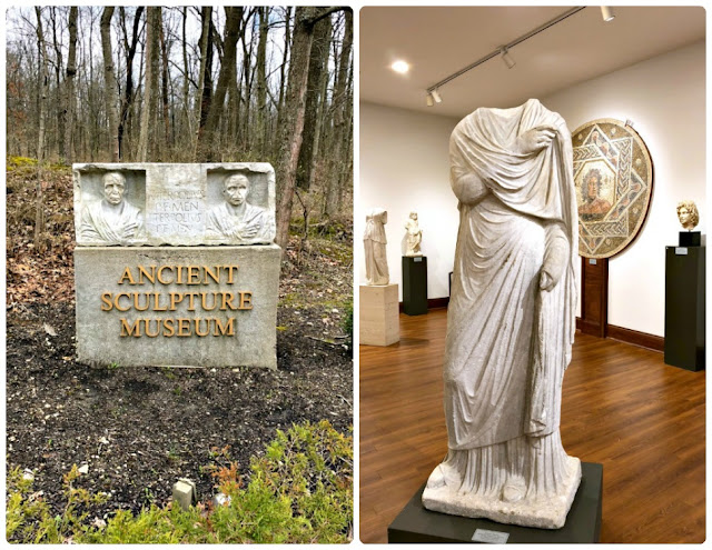 Located on over 300 acres of rolling hills, the Pyramid Hill Sculpture Park & Museum in Hamilton, Ohio features more than 60 outdoor sculptures in addition to their indoor Ancient Sculpture Museum that displays pieces dating back as early as 1550 B.C.