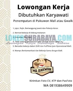 Lowongan Kerja di Mr. Bakwan Surabaya Terbaru Mei 2019