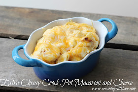 Extra Cheesy Crock Pot Macaroni and Cheese recipe from Served Up With Love