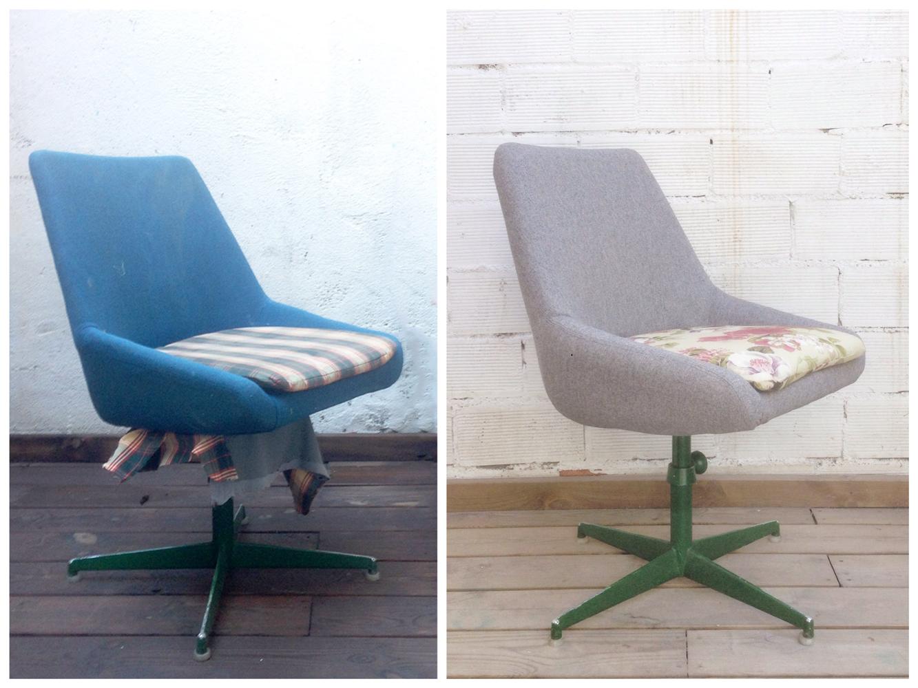 Antes y después - Sillón de despacho tapizado - Studio Alis