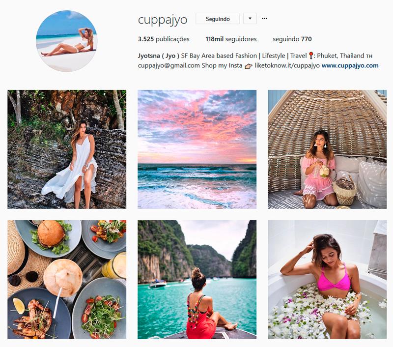 Top 10 Instagrammers Travel Bloggers para seguir cuppajyo Jyotsna Shankar Indicações Dicas Instagram Pictures Photos Viajante Travelblogger Stephanie Vasques Viagens Não é Berlim blog naoeberlim