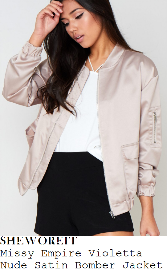 ferne-mccann-missy-empire-violetta-cream-nude-long-sleeve-zip-front-satin-bomber-jacket
