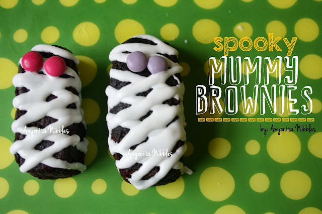 Spooky Mummy Brownies from www.anyonita-nibbles.com