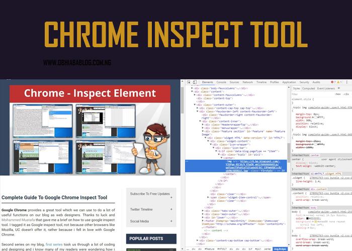 Google Chrome Inspect Tool