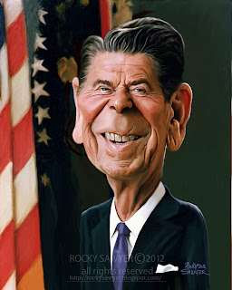 Ronald Reagan Caricature