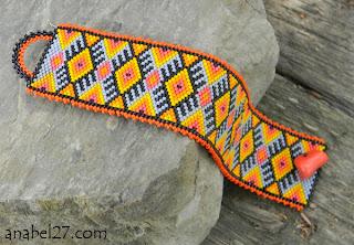 купить этнический браслет из бисера анабель авторские украшения