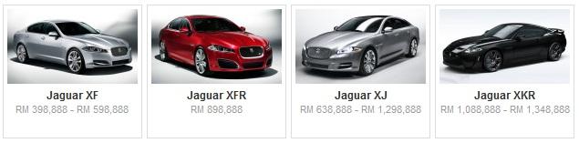 Senarai Harga Terkini Kenderaan Jaguar Baru Di Malaysia