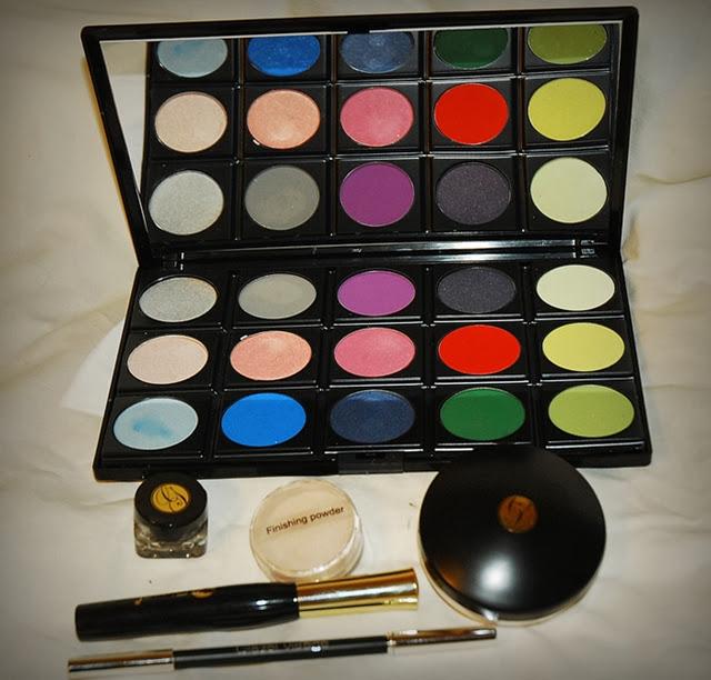makijaż , aliexpress, makeup , make u p , metamorfoza , blog, kosmetyki, revolution, farbki do brwi , glazel visage, glazel , paletka