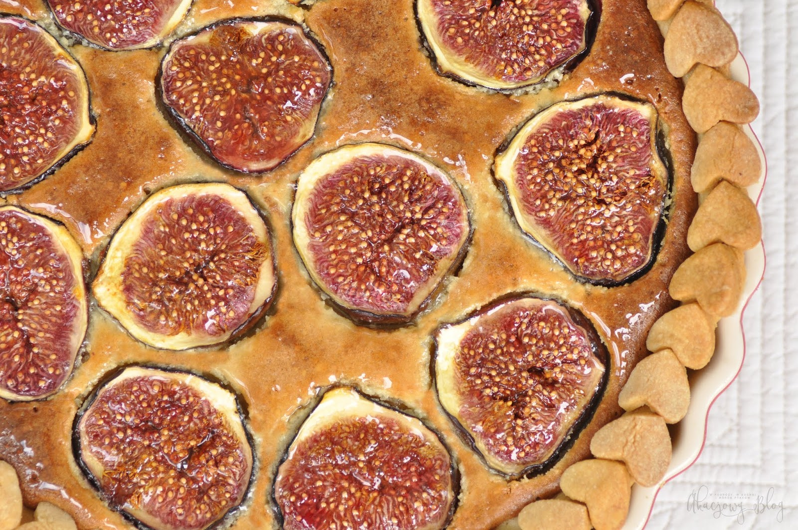 Tarta z figami i  frangipane