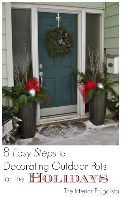 Decorating Outdoor Urns with Natural Greens for the Holidays Tutorial