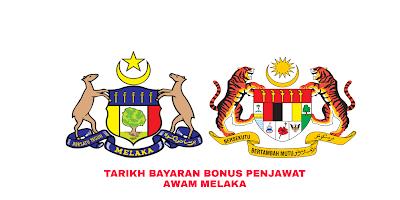 Tarikh Bayaran Bonus Penjawat Awam Melaka 2019