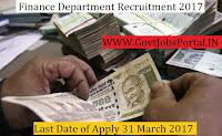 Finance Department Recruitment 2017–Clerk Officer