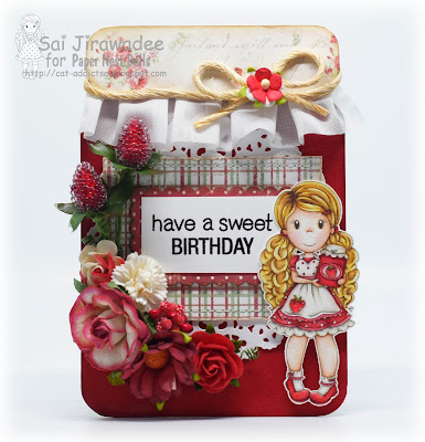 PND Strawberry Jam Emma Jar Shaped Card