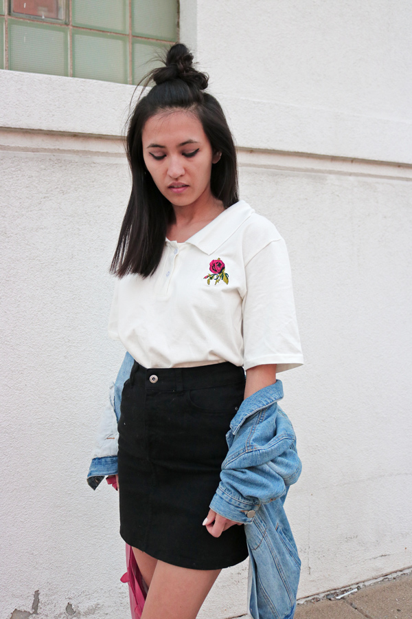 White Embroidery Shirt Spring Trend