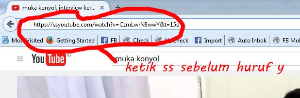 cara download video di youtube dengan menggunakan ss