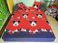 Sofa bed inoac motif mickey mouse merah posisi kasur