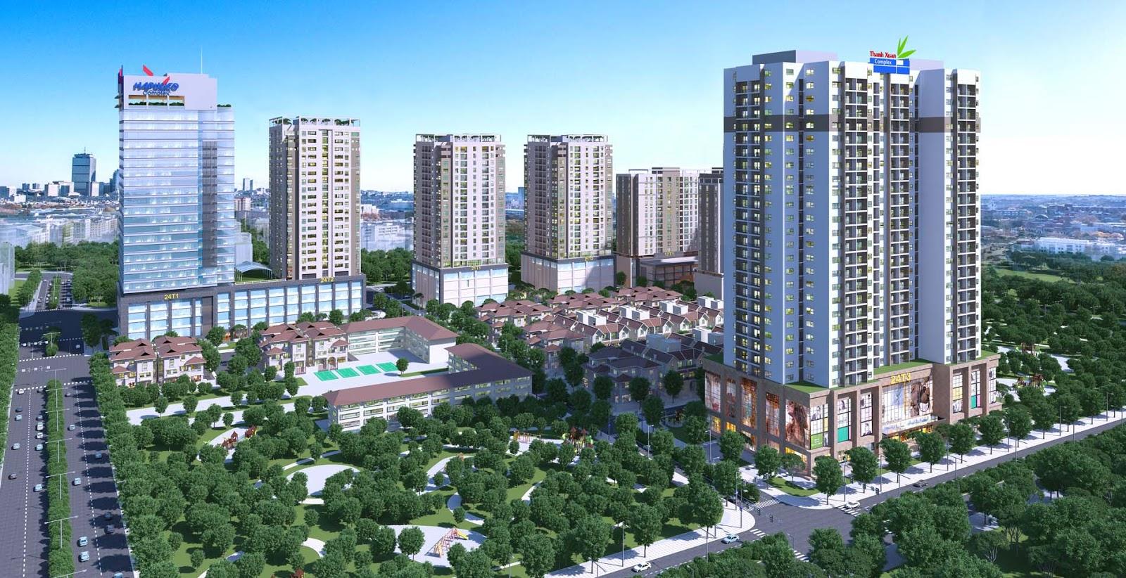 Phối cảnh chung cư Thanh Xuân Complex