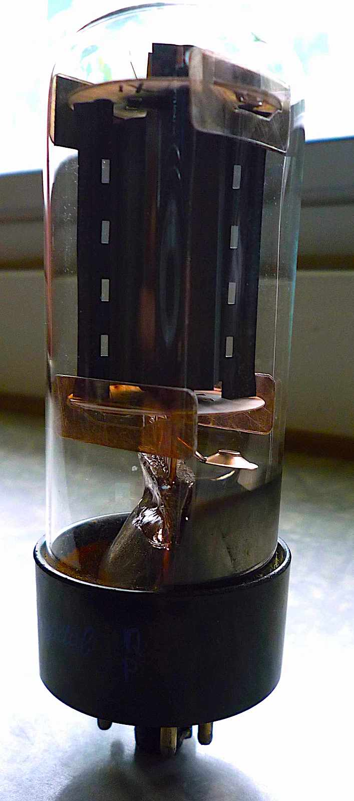 guitar amplifier tube early 1970s, a color photograph