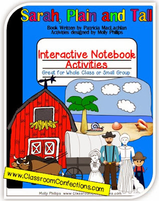 Sarah, Plain, and Tall Interactive Notebook Activity