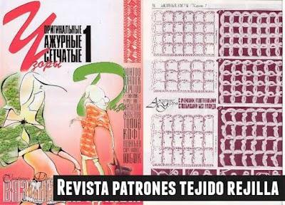 Revista 110 patrones tejido rejilla malla