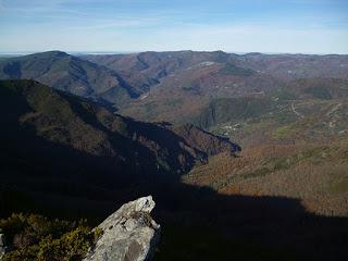 Devesa da Rogueira desde el Formigueiros (1641 m)