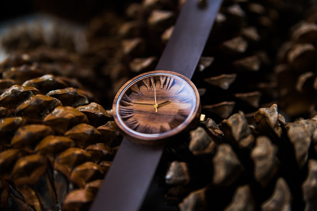 "Men's Wood Watch  ""Prunus"""