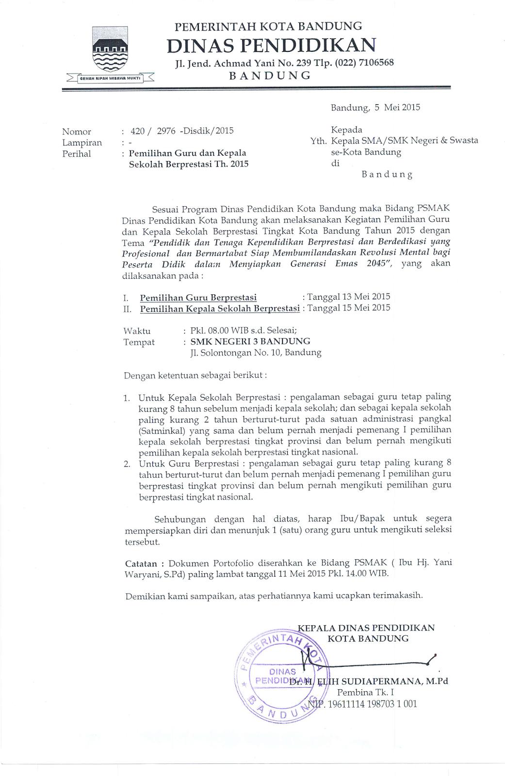 Contoh Surat Dinas Himbauan - Contoh VV