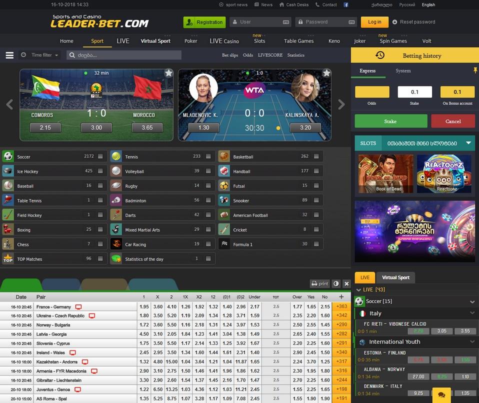 Leader-Bet Screen