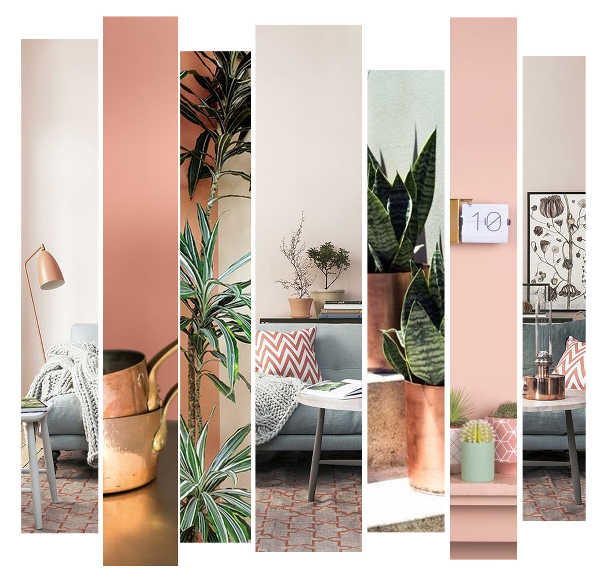 Iu0027ve Recently Become A Little Obsessed With Peach Shades Of Colour. They  Look Great Paired With Gold Or Rose Gold Accents And A Few Green Plants  Really ...
