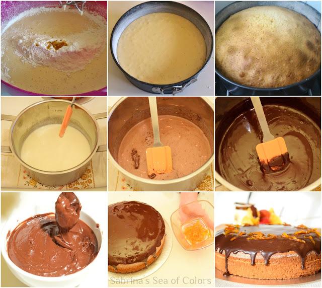 Pastel de naranja y chocolate paso a paso
