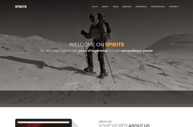 Spirit8 - bootstrap HTML template