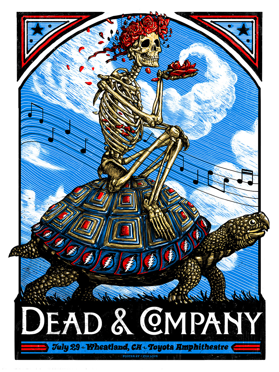 inside the rock poster frame blog zeb love dead and company wheatland poster release. Black Bedroom Furniture Sets. Home Design Ideas