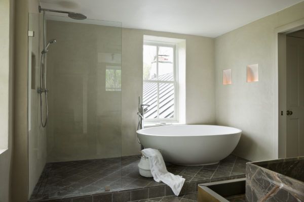 image result for timeless Belgian minimal modern bathroom in country house in Virginia