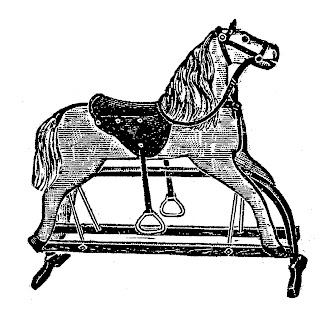rocking horse toy children image drawing artwork illustration