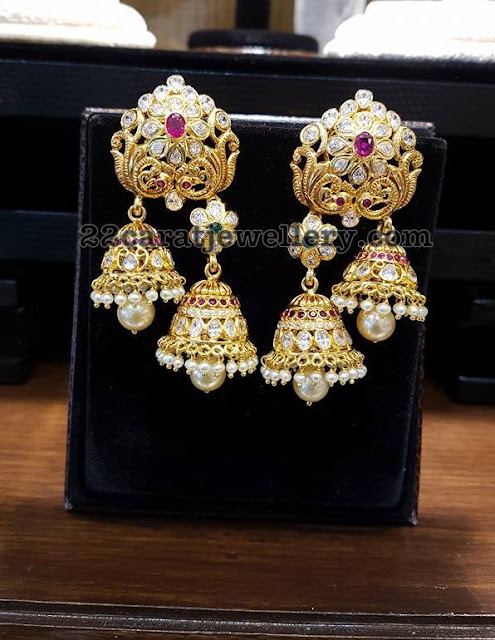 Trendy Two Step Jhumkas