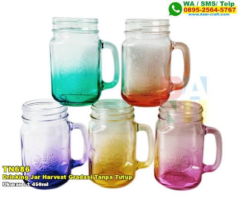 Drinking Jar Harvest Gradasi Tanpa Tutup