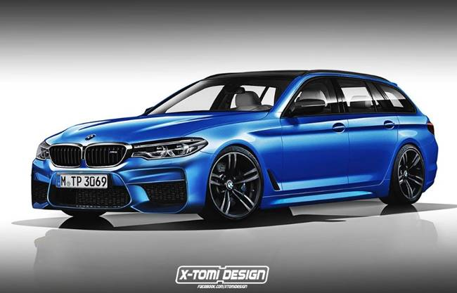 2018 BMW M5 Touring Rendered