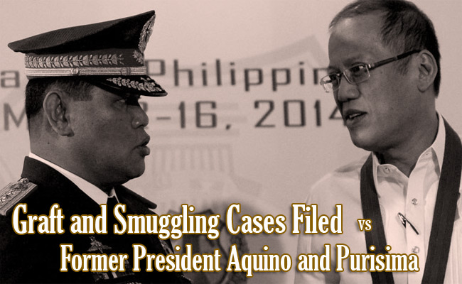 Graft and Smuggling Cases Filed vs Former President Aquino and Purisima