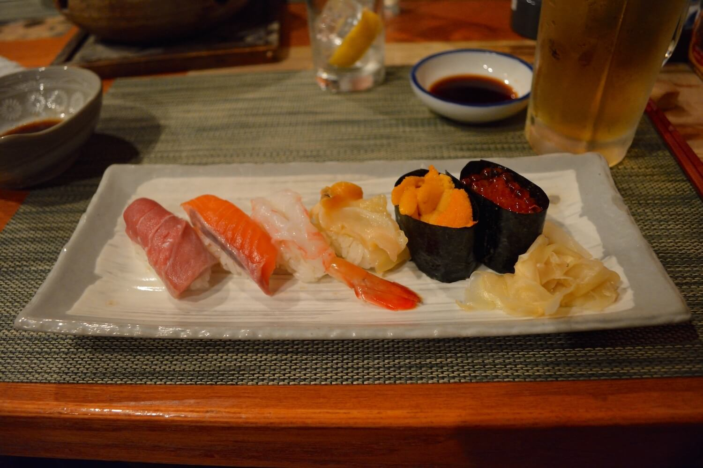 sapporo izakaya sushi plate