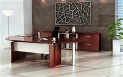 Napoli Executive Desk with Commute Mesh Chair