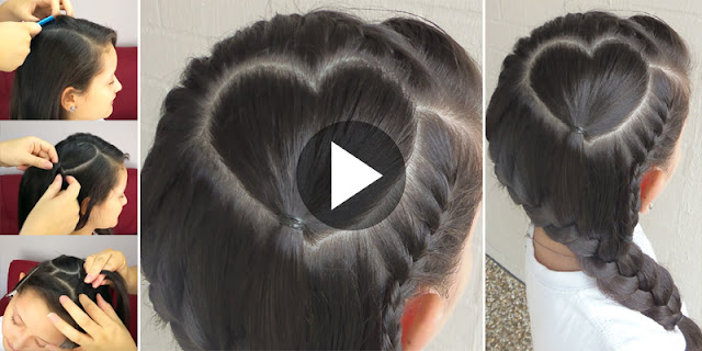 Learn - How To Create Perfect Heart With Braid Hairstyle, See Tutorial