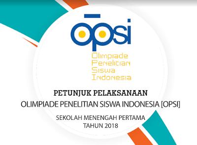 OPSI SMP 2018 Olimpiade Penelitian Siswa Indonesia