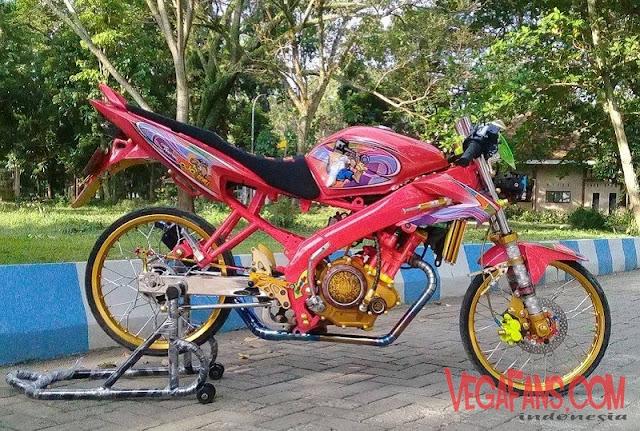 Vixion Modif Jari Jari Warna Pink Thailook
