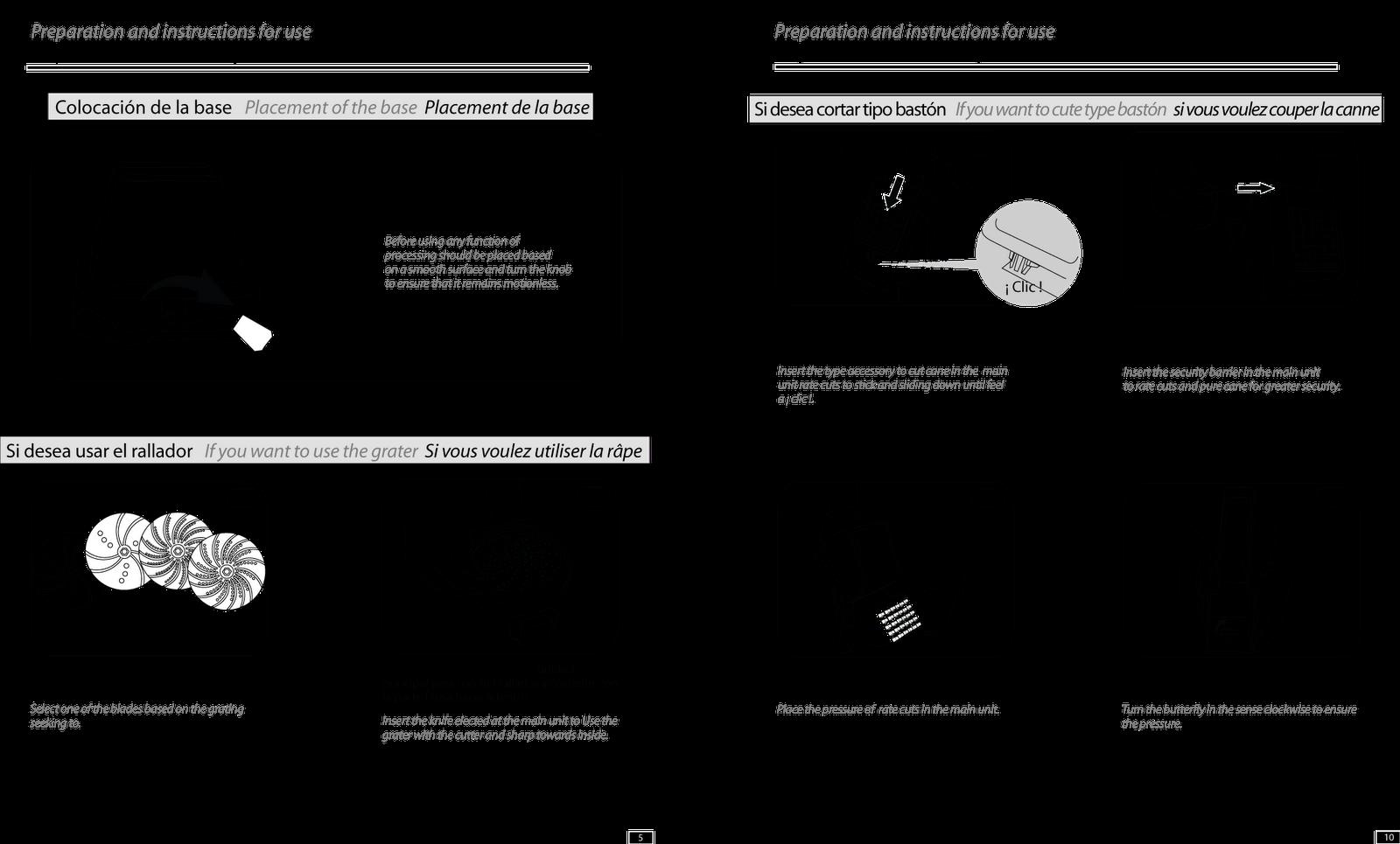 GIAMPAULI DISEÑO: Manual de instrucciones Multiprocesadora